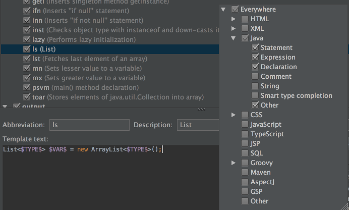Getting started with IntelliJ IDEA Live Templates | Roberto