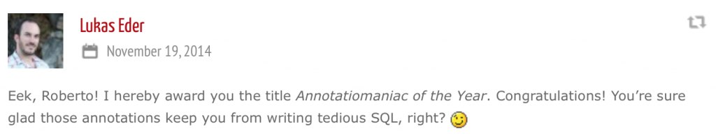 Annotatiomaniac of the Year