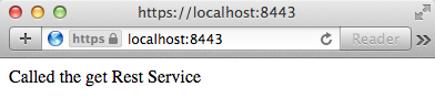 Rest Service Localhost